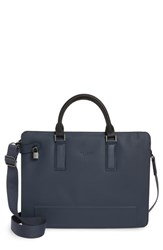 Ted Baker London Stark Leather Briefcase Blue Navy