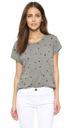 Current Elliott The Crew Neck Tee Heather Grey With Mini Navy St