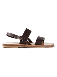 K. Jacques Sling Back Sandals Brown