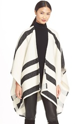 Alice Olivia 'Kayson' Draped Poncho Cream Multi
