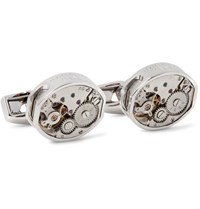 Tateossian Skeleton Vintage Window Rhodium Plated Cufflinks Silver