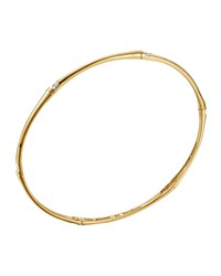 Slim Bamboo 18K Gold And Diamond Bangle Bracelet John Hardy Green