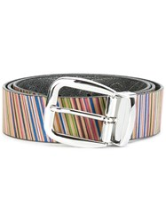 Etro Striped Print Belt