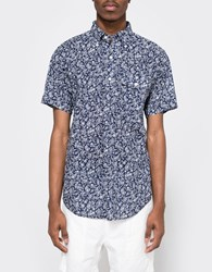 Engineered Garments Navy Paisley Lawn Popover Bd