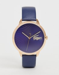 Lacoste Lexi Leather Watch Navy