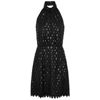 Emporio Armani Black Halterneck Guipure Lace Dress
