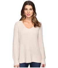 Sanctuary Sequoia V Neck Sweater Marled Champagne Women's Sweater Pink