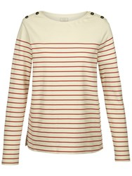 Fat Face Issey Stripe Top Ivory