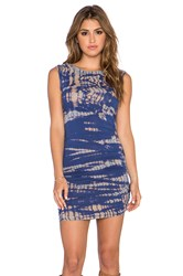 Gypsy 05 Bamboo Shirred Mini Dress Blue