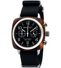 Briston 16140.Sa.T.1.Nb Clubmaster Classic Chronograph Watch Stainless Steel