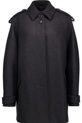 Isabel Marant Faber Oversized Wool Blend Coat Midnight Blue