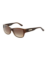 Thierry Mugler Brown Glitter Acetate Square Sunglasses