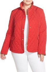 Plus Size Women's Basler Quilted Stand Collar Jacket