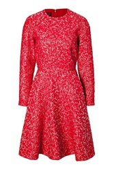 Giambattista Valli Cloque Fit And Flare Dress Red