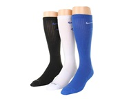 Nike Dri Fit Fly Crew 3 Pair Pack Game Royal White White Game Royal Black Game Royal Crew Cut Socks Shoes Multi