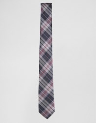 Selected Homme Tie With Check Navy
