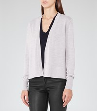 Reiss Rudy Womens Open Front Cardigan In Grey