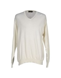Brooksfield Knitwear Jumpers Men White