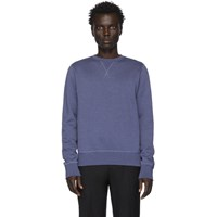 Ralph Lauren Purple Label Blue Fleece Madison Sweatshirt