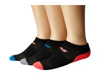 New Balance Adaptive No Show 3 Pack Black Pink No Show Socks Shoes