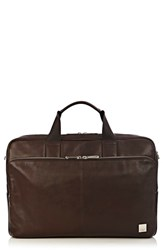 Knomo London Brompton Amesbury Leather Briefcase Brown