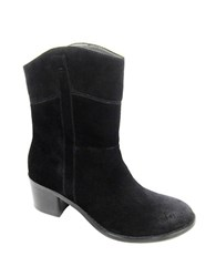 Adrienne Vittadini Fonzie Suede Ankle Boots Black