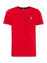 Paul Smith Men's Ps By Small Zebra Logo T Shirt Red