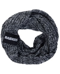 Forever Collectibles Oakland Raiders Peak Infinity Scarf Black Gray
