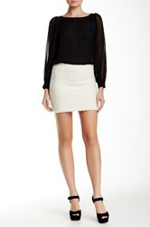 Alice Olivia Neville Clean Fitted Mini Skirt White