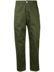 Haikure Tapered Trousers Green
