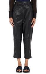 3.1 Phillip Lim Women's Leather Relaxed Carrot Pants Black