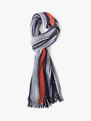 Ted Baker Muster Stripe Scarf Grey Multi