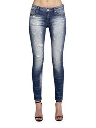 Cult Of Individuality Zen Mid Rise Washed Jeans Blue