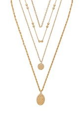 8 Other Reasons Hail Mary Necklace Metallic Gold