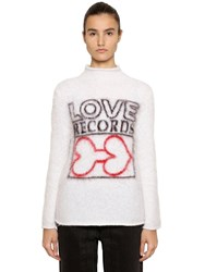 Aalto Love Intarsia Mohair Blend Sweater Ivory