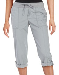 Lord And Taylor Cargo Capri Pants Graphite