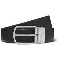 Hugo Boss 3.5Cm Black And Brown Reversible Leather Belt Black