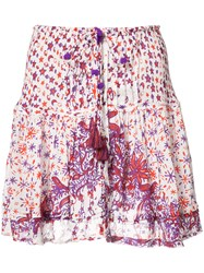 Poupette St Barth 'Kila' Printed Mini Skirt White