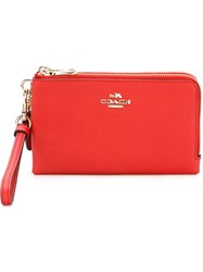 Coach Zipped Wristlet Red