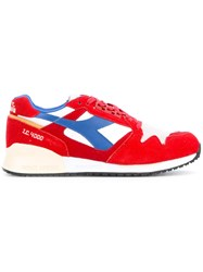 Diadora Ic 4000 Trainers Men Leather Suede Nylon Rubber 7 Red