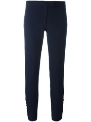 Joseph Buttoned Detail Cropped Trousers Blue