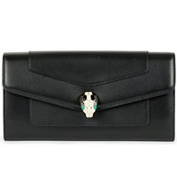 Bulgari Bvlgari Continental Leather Wallet Black