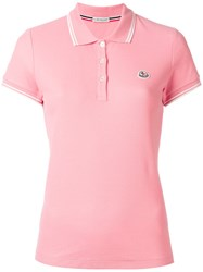Moncler Short Sleeve Polo Shirt Pink Purple