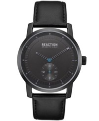 Kenneth Cole Reaction Black Synthetic Leather Strap Watch 42Mm