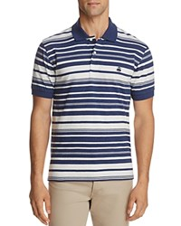 Brooks Brothers Heather Stripe Performance Slim Fit Polo Shirt Open Blue