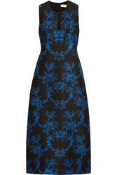 Stella Mccartney Angelica Crystal Embellished Floral Jacquard Gown Black Blue