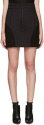 Balmain Black High Rise Skirt