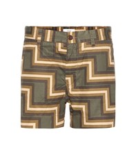Closed Jocy Printed Cotton Shorts Green