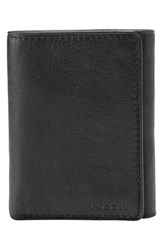 Men's Fossil 'Ingram' Trifold Wallet Black