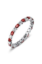 Lafonn Women's Simulated Diamond Birthstone Band Ring January Garnet